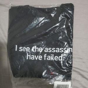 Think Geek Assassins Funny Joke Shirt
